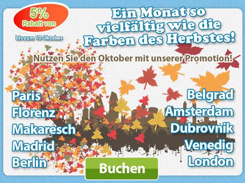 Nutzen Sie den Oktober