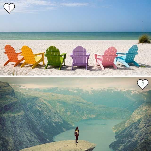 Bevorzugst du das Meer oder die Berge?