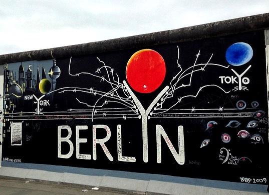Der Fall der Berliner Mauer. Die East Side Gallery