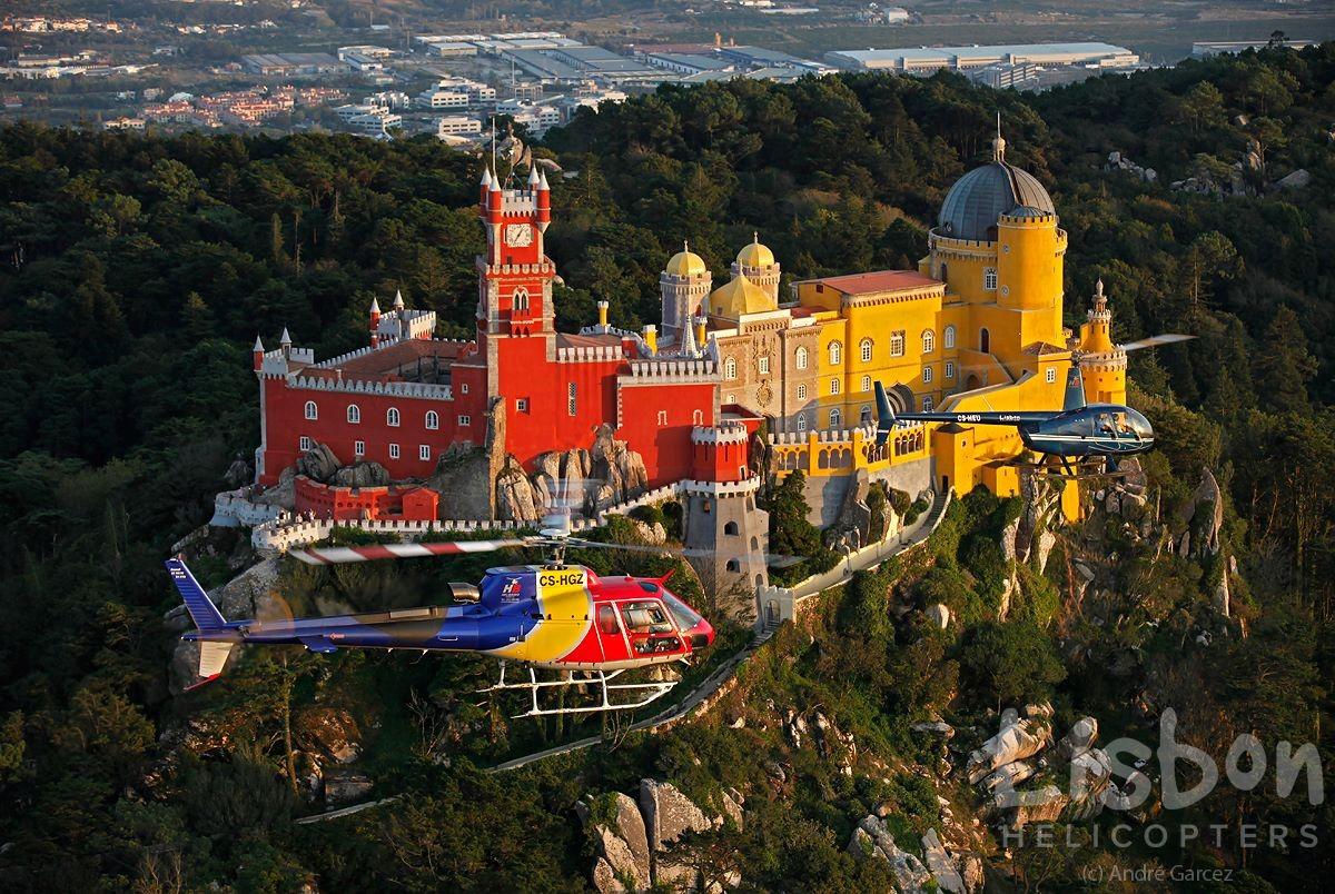 Lissabon aus der Luft, vom Wasser und vom Land aus